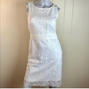 Karl Lagerfeld Ivory Lace Party Dress